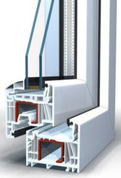 Окно пластиковое Brusbox выс.970 шир.1170мм двухстворчатое П/П