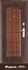 Дверь стальная 2050х960х70, модель 701